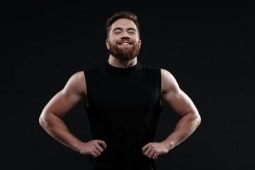 Smiling trainer