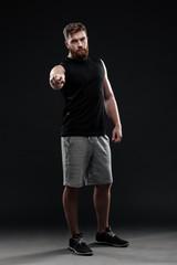 Full length photo of trainer