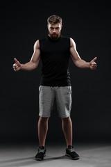 Full length portrait of trainer