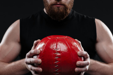 Cropped image of trainer with ball