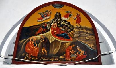 Bethlehem - Gemälde in der Geburtskirche