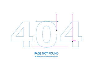 The concept of error 404 Page not found. Drawing a new page.