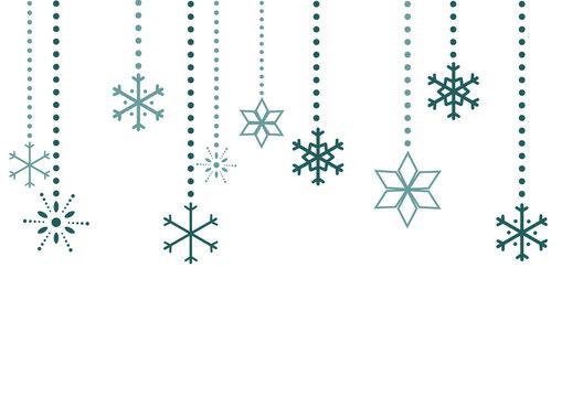 Schneeflocken Flat Design Hintergrund