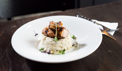 risotto with duck
