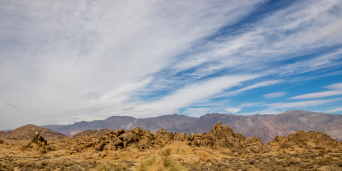 Rocks, Mountains and Sky at Alabama Hills, the Mobius Arch Loop