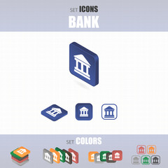 Set of icons bank.