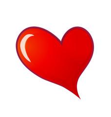 Love heart valentines symbol logo
