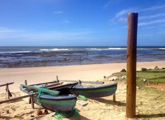 Beach and sea on the coast of Bahia
