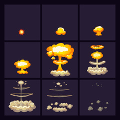 Explosion Effects Icons Set