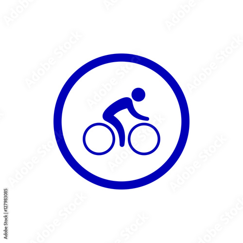 Bicycle Lane Sign Sign Bicycle Path Icon In Blue Circle Rules Of