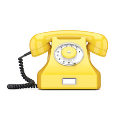 3D rendering old yellow phone
