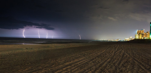Lightning on the beach