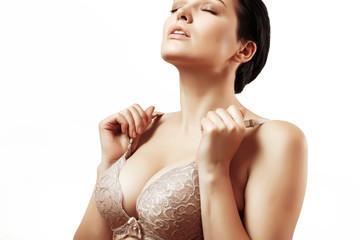girl in bra