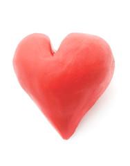 Plasticine heart.