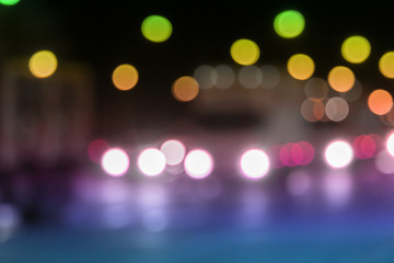 Abstract bokeh traffic light background.