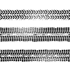 background of wheel prints in black and white colors. vector illustration