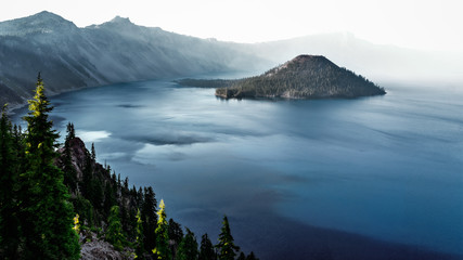 Crater Lake under a siege