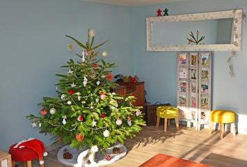 Christmas fir and decoration.