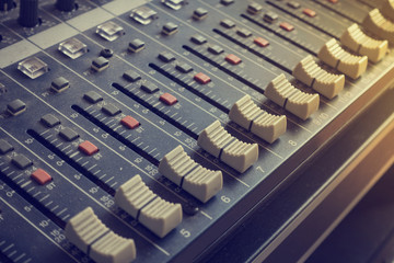 equipment for old sound mixer control, electronic device