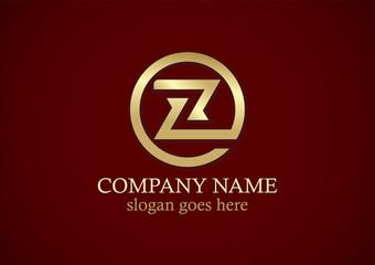 round letter z shape gold logo