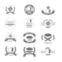 set of bakery badge logo