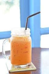 milk tea in jar