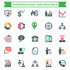 Smart Business Icons - Color Series (Set 2)