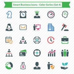 Smart Business Icons - Color Series (Set 4)