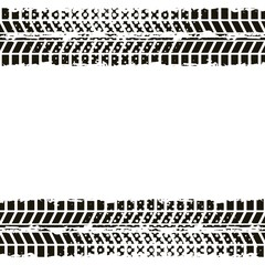 wheel prints in black and white colors. vector illustration