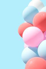 Pastel balloons for background