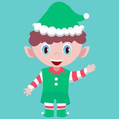 Elf vector, Christmas collection.