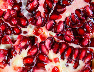 close up of Ripe pomegranate fruit
