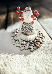 Toy coffee snowman