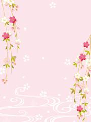 しだれ桜 背景イラスト