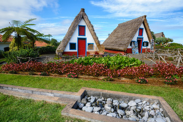 Traditional cottages in Santana, Madeira (Portugal)