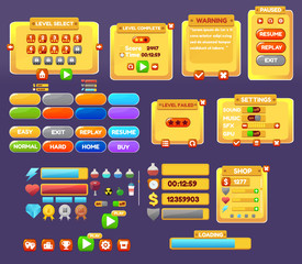 The elements of the game interface.