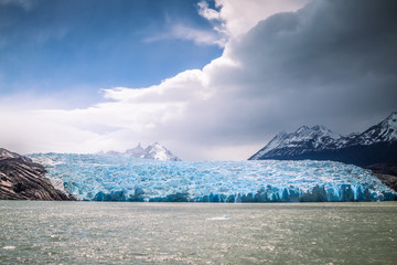 Photo sur Plexiglas Glaciers Grey Glacier, the National Park Torres del Paine, Chile.