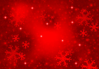 Christmas red background with stars effect.