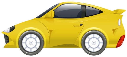 Sport car in yellow color