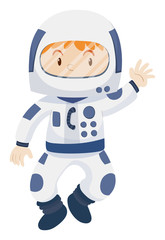Kid in spacesuit costume
