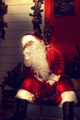 Portrait of Santa Claus.