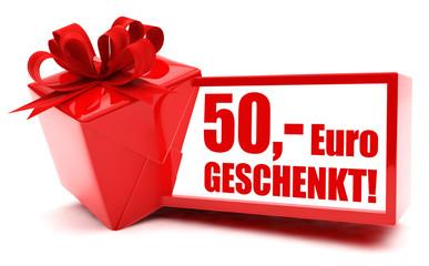 50 Euro Gutschein! Button, Icon