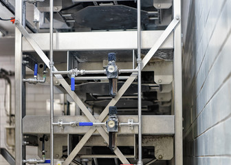 Automated equipment at the dairy in France