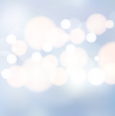 Blue light bokeh background vector