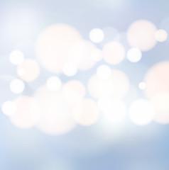 Blue light bokeh background vector
