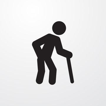 old man icon illustration