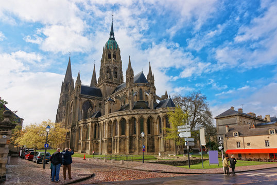 Cathedral of Our Lady of Bayeux at Calvados Normandy France