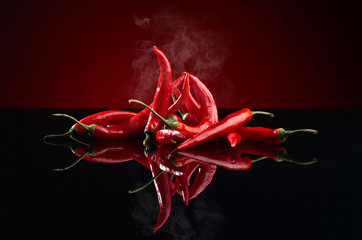 Fotobehang Hot chili peppers red chilli pepper