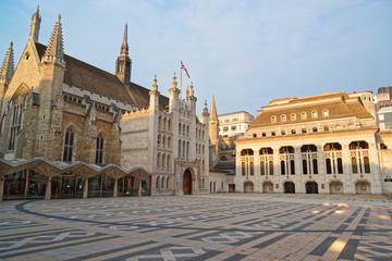 Guildhall complex in the City of London England