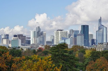 Landscape view of the La Defense neighborhood in Paris, France